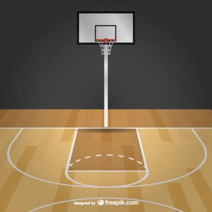 Basketball Free Court Free Vector