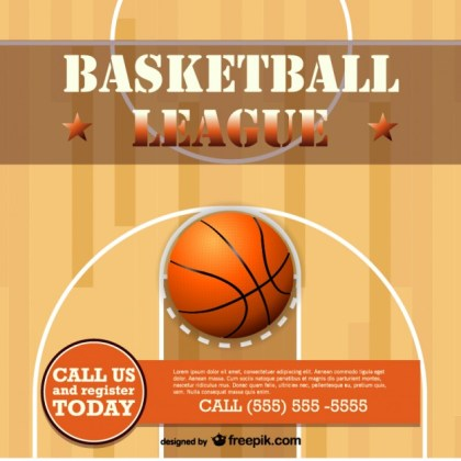 Basketball Free Template Design Free Vector