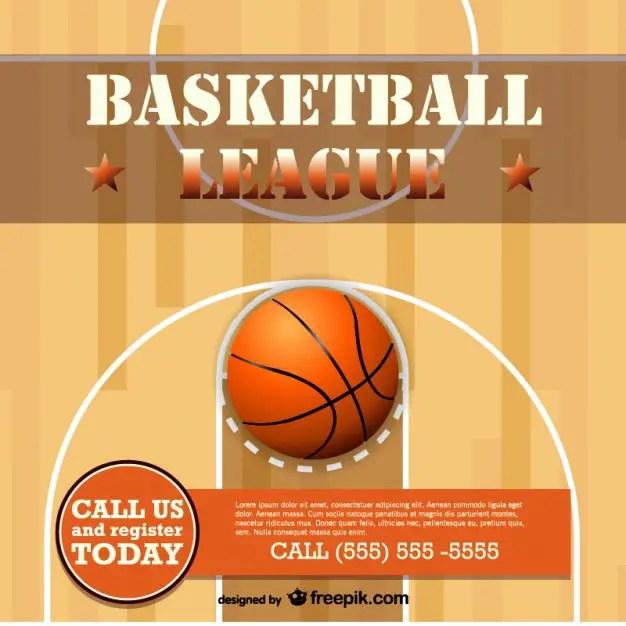 Basketball Free Template Design Free Vector