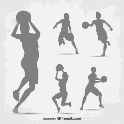 Basketball Player Silhouette Free Vector