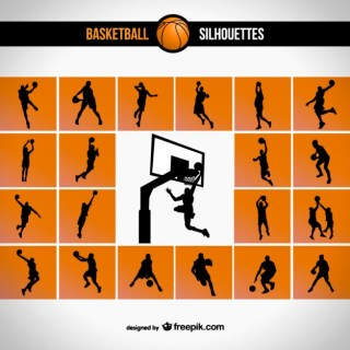 Basketball Silhouette Free Vector