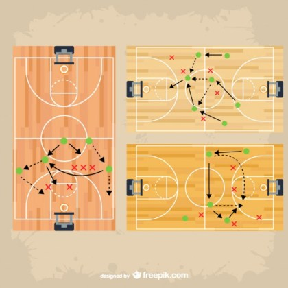 Basketball Tactic Game Strategy Free Vector