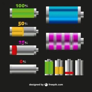 Battery Symbols Free Vector