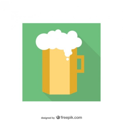 Beer Mug Icon Free Vector