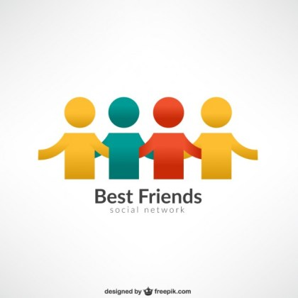 Best Friends Logo Free Vector