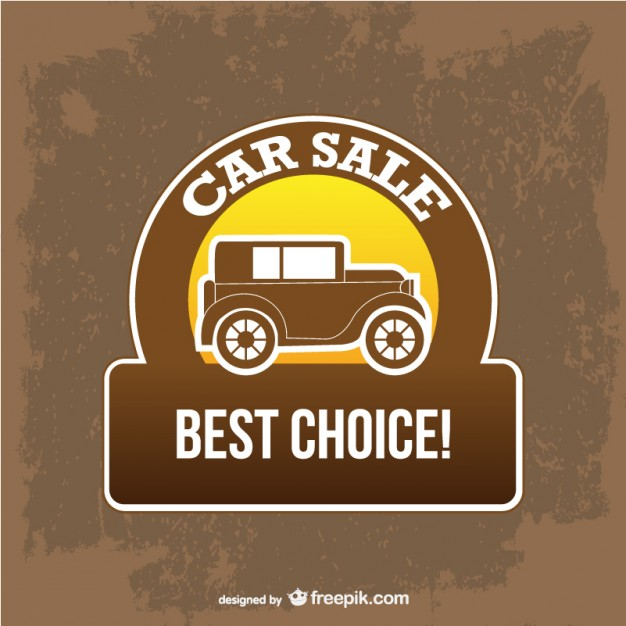 Best Sale Car Sign Free Vector