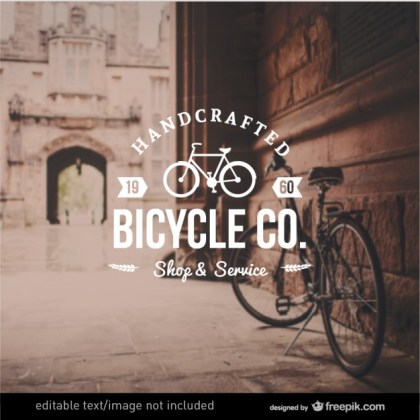Bicycle Badge in Retro Style Free Vector