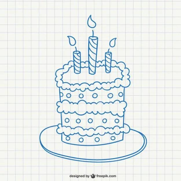 Birthday Cake Doodle Free Vector