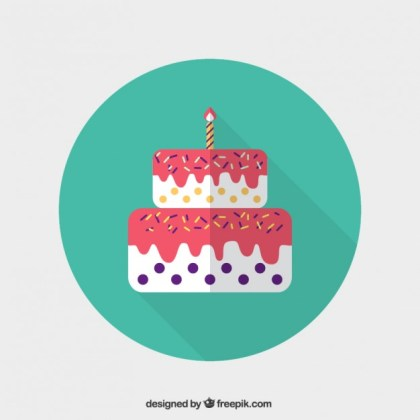 Birthday Cake Icon Free Vector