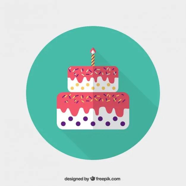 Birthday Cake Icon Free Vector