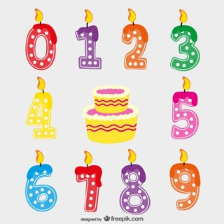 Birthday Candles Free Vector
