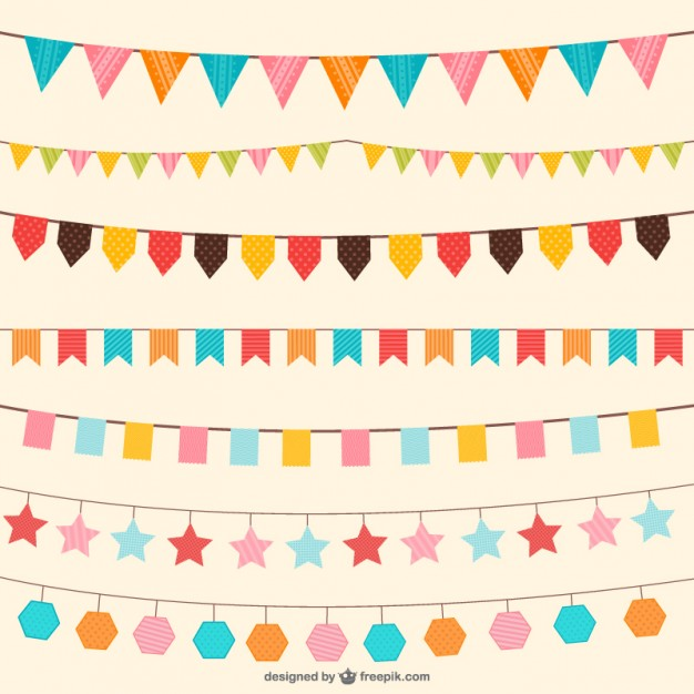 Birthday Decorations Ornaments Free Vector