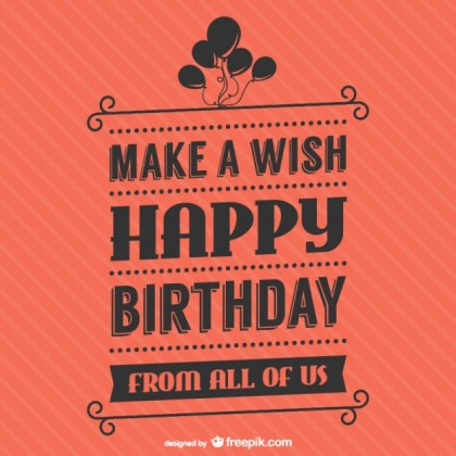 Birthday Lettering Free Vector