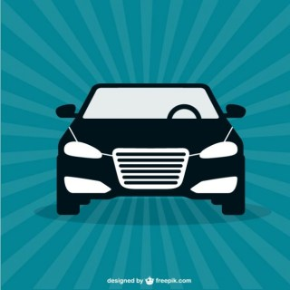 Black Car Free Vector