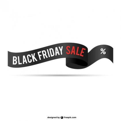 Black Friday Sale Ribbon Free Vector