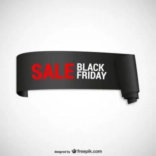 Black Friday Sales Ribbon Free Vector