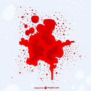 Blood Stain Backgroud Free Vector