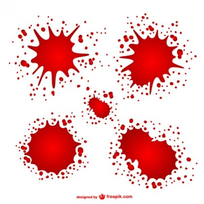 Blood Stains Free Vector