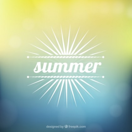 Blurred Background for Summer Free Vector