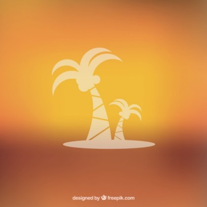 Blurred Oasis Free Vector
