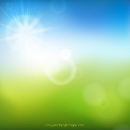 Blurry Summer View Free Vector