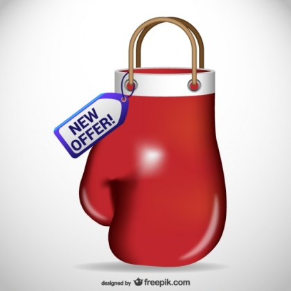 Boxing Glove Shaped Shopping Bag Free Vector