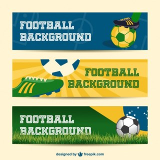 Brazil Banners Collection Soccer Event Free Vector