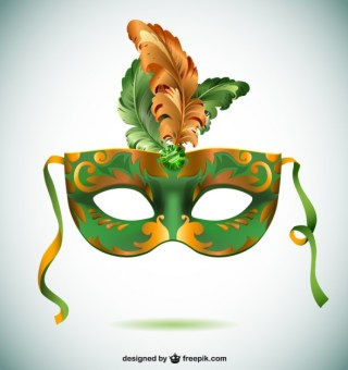 Brazil Carnival Mask Party Time Free Vector