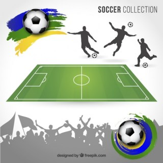 Brazil Football Elements Free Vector
