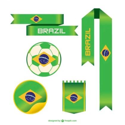 Brazil World Soccer Event Free Vector