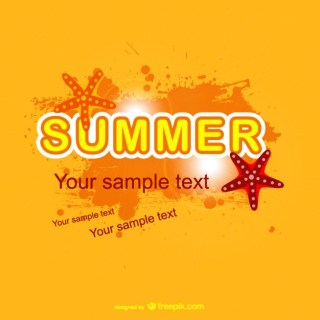 Bright Summer Background Design Free Vector