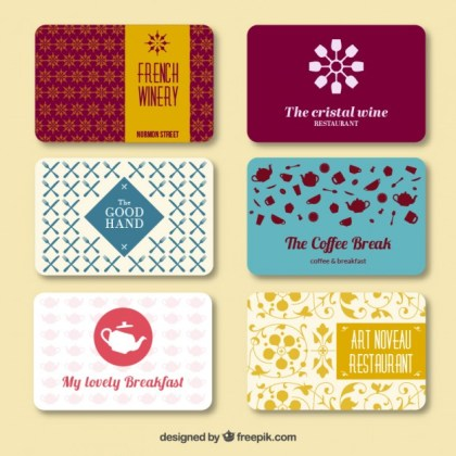 Business Card Collection Free Vector