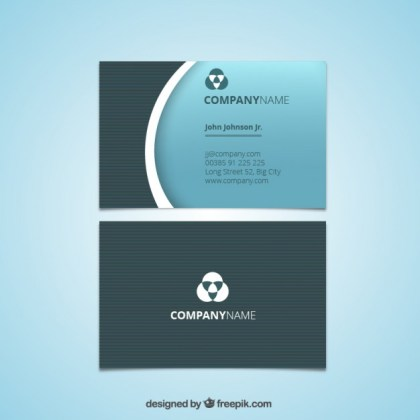 Business Card in Blue Tones Free Vector