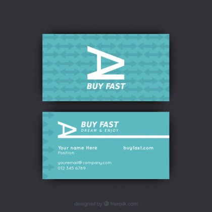 Business Card with Arrow Pattern Free Vector