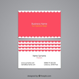 Business Card with Lace Decoration Free Vector