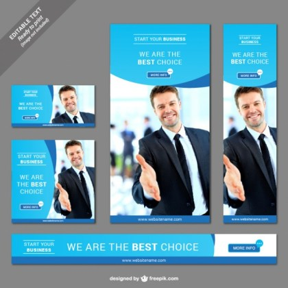 Business Web Banner Free Vector