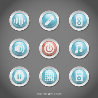 Buttons Free Vector