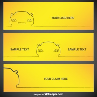 Car Banner Templates Free Vector