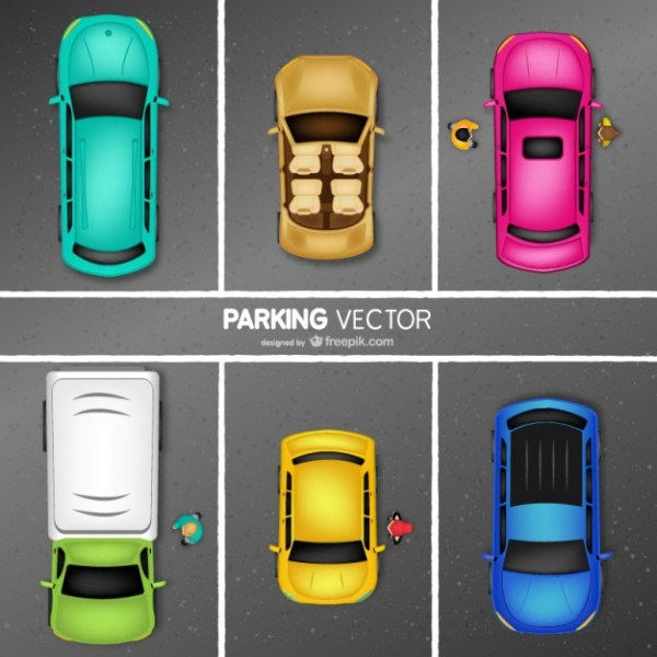 Car Parking Free Vector