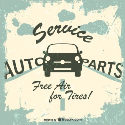 Car Service Grunge Logo Free Vector