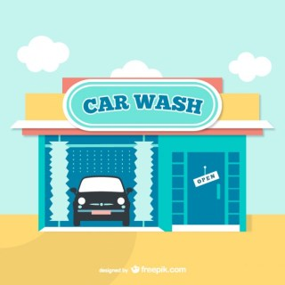 Car Wash Cartoon Free Vector
