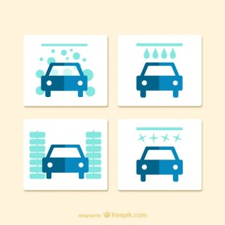 Car Wash Icon Free Vector