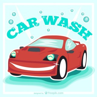 Car Wash Vintage Free Vector