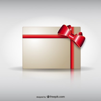Card with Ribbon Free Vector