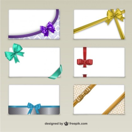 Cards with Ribbons for Black Friday Free Vector