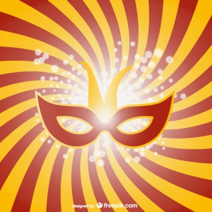 Carnival Mask Graphic Free Vector