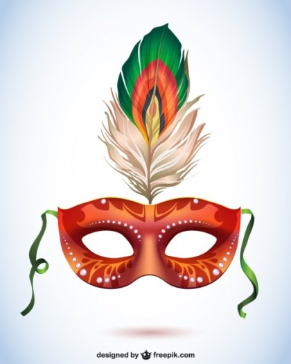 Carnival Style Mask Free Vector