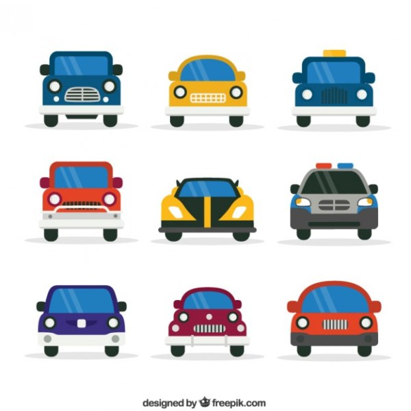 Cars Collection Free Vector