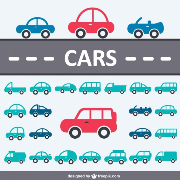 Cars Icon Collection Free Vector