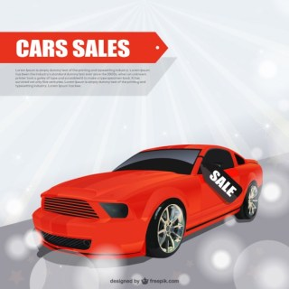 Cars Sales Free Vector